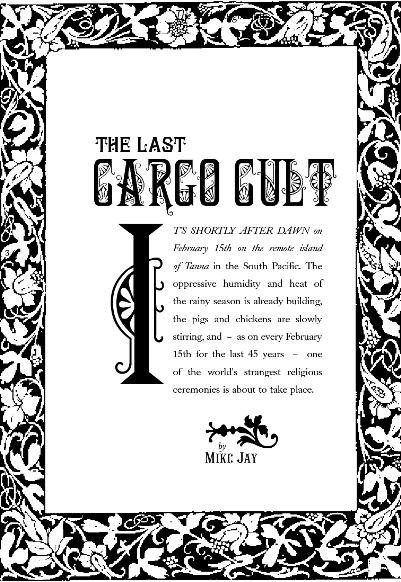 THE LAST CARGO CULT